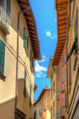 Small town street view in Porlezza — Stock Photo