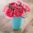 Pink carnations flower bouquet — Stock Photo