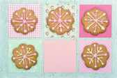 Cookies with pink frosting — Stock Photo