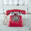 Stock Photo: Old red telephone