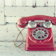 Stock Photo: Red toy telephone