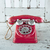 Old red telephone — Stock Photo