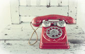 Red toy telephone — Stock Photo