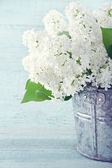 Bouquet of flowers on vintage background — Stock Photo