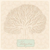 Vintage tree — Stock Vector
