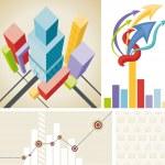 Business template set — Stock Vector