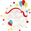 Royalty-Free Stock Imagem Vetorial: Birthday Card