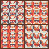 Vector set: seamless geometric patterns — Stock Vector