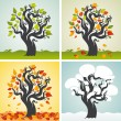 Four seasons set with tree — Stock Vector #30229935