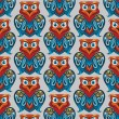 Stock Vector: Seamless owl pattern