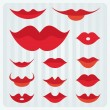 Stock Vector: Lips design