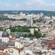 Lviv bird's-eye view. Ukraine — Stock Photo