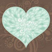 Valentine greeting card — Vector de stock