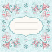 Beautiful floral holiday card — Stock Vector