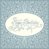 Happy birthday greeting card design — Stockvector