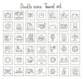 Doodle icons. Travel set — Stock Vector