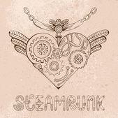 Steampunk heart — Stock Vector