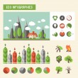������, ������: Ecology infographics Vector set