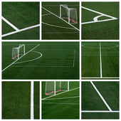 Soccer field - collage — Stock Photo