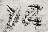 Sand beach alphabet: letter Y and Z — Fotografia Stock