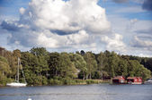 Swedish lakeside — Stock Photo