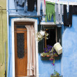 Burano house - Venice - Stock Photo