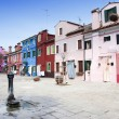 Burano houses - Venice — Stock Photo