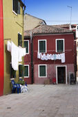 Burano houses - Venice — Stock Photo