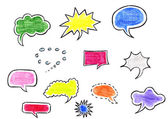 Hand-drawn speech bubbles — Stock Photo