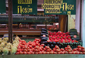 Fresh vegetables in a french market — Stock Photo