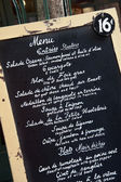 French restaurant menu — Stock Photo