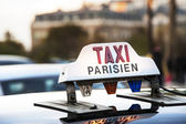 Parijs - taxi — Stockfoto