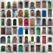 Stock Photo: Doors collage