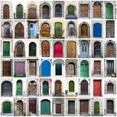 Doors collage — Stock Photo