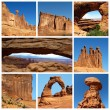 Arches National Park collage - Stock Photo