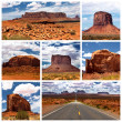 Monument Valley collage - Stock Photo