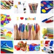 Stock Photo: School collage