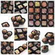 Chocolate pralines collage — Stock Photo #18763069