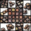 Chocolate pralines collage — Stock Photo #18763243