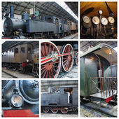 Oude atrain collage — Stockfoto
