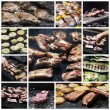 Barbecue collage — Stock Photo