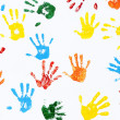 Prints of hands of child — Stock Photo #23029924