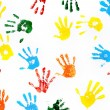 Prints of hands of child — Stock Photo #23030926