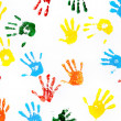 Stock Photo: Prints of hands of child