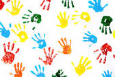Prints of hands of child — Stock Photo