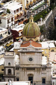 Positano church, italy — Stock Photo