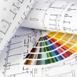 Blueprints and color guide — Stock Photo #29828115