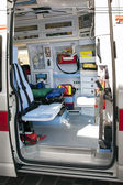Interior ambulance — Stock Photo