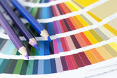Choosing color from the spectrum — Stock Photo