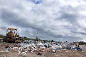 Municipal landfill for household waste — Stock Photo